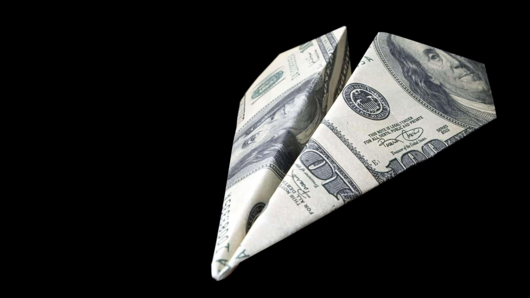Samolot z banknotu