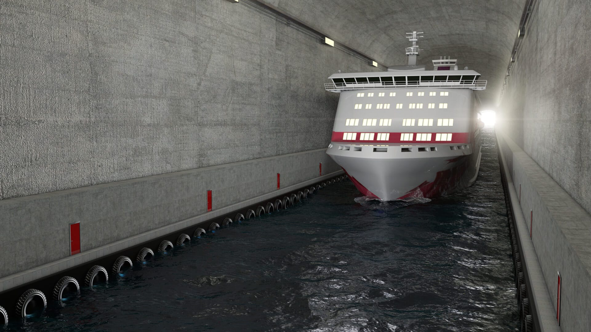 Tunel żeglugowy w Stad