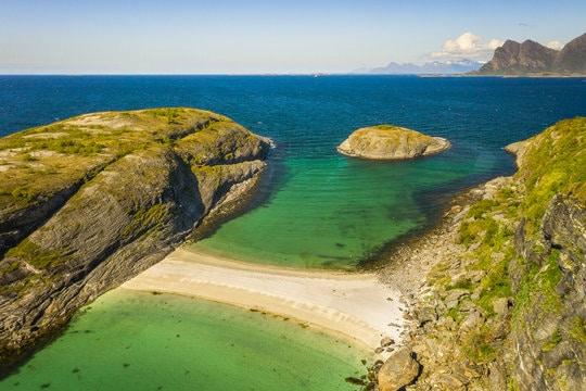 Plaża Hovdsundet w Norwegii