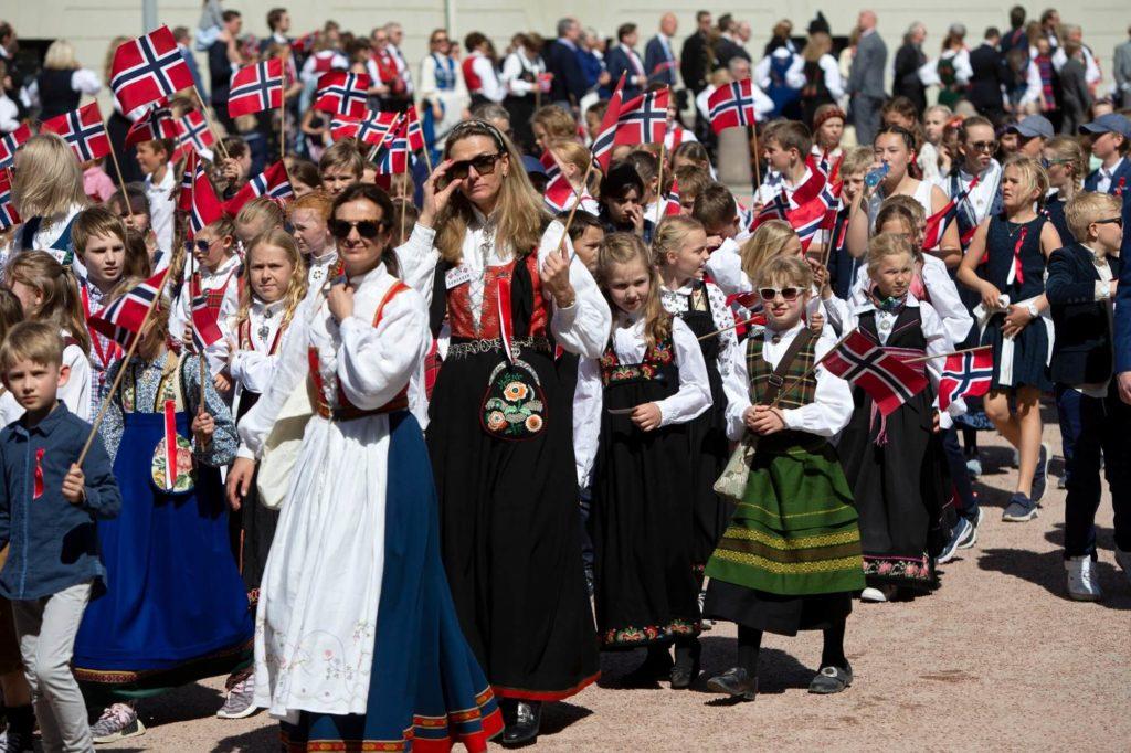 Parada dzieci w Norwegii
