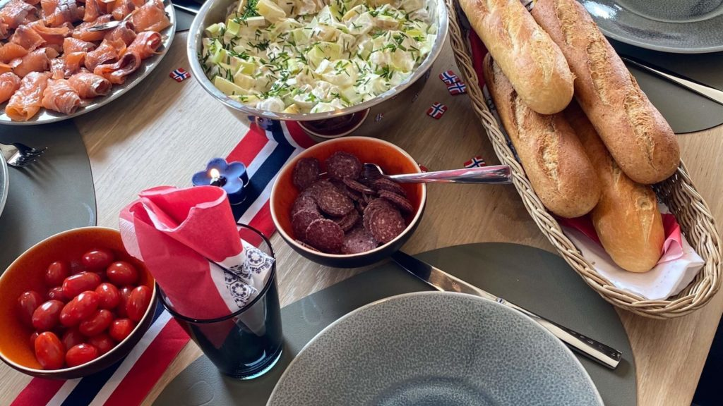 Jedzenie w Dniu Konstytucji Norwegii