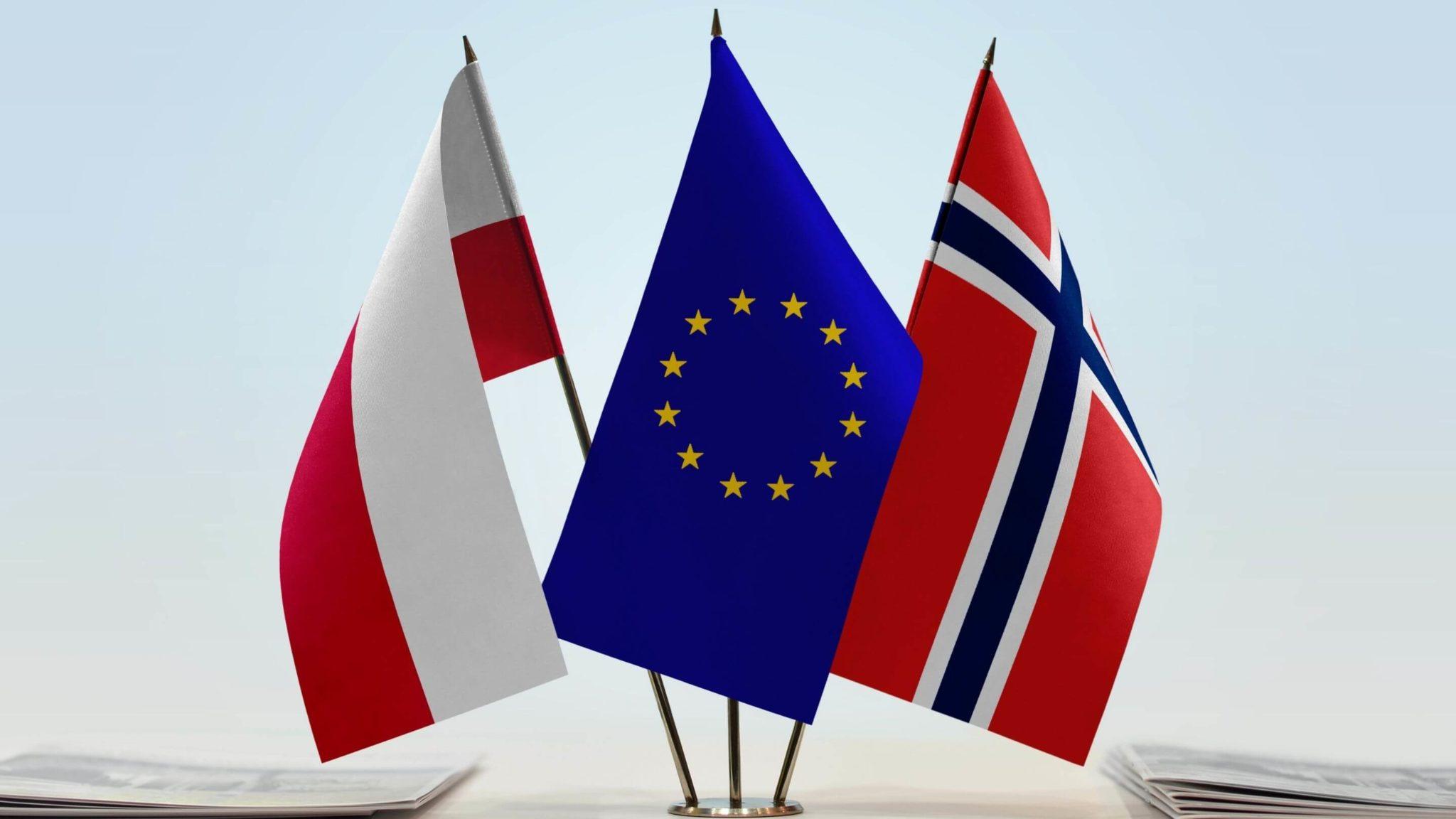polska i norweska flaga